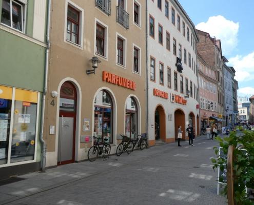 Jena: Unterm Markt 4-Standort für Stolperstein Heinrich Weidinger