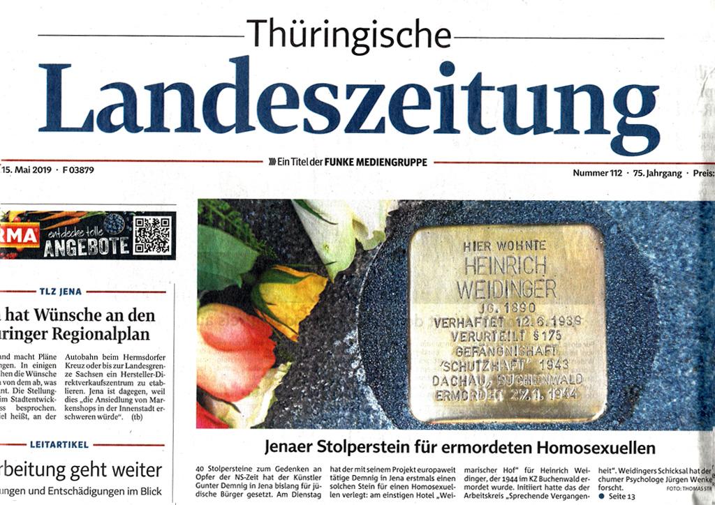 Thüringische Landeszeitung vom 15.05.2019