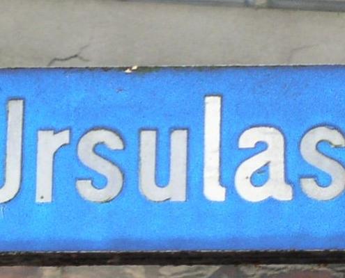 Strassenschild Ursulastraße Bochum