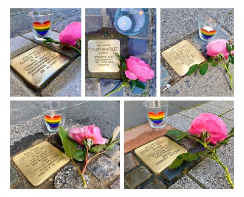 Stolpersteine putzen am Tag gegen Homophobie am 17.05.2020 Copyright Thomas Tillmann